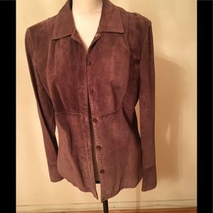Jackets & Blazers - Brown suede jacket medium